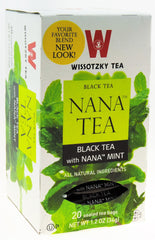 Wissotzky - NANA TEA - Black Tea with Nana Mint, Box Of 20 Bags - MakoletOnline