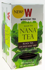 Wissotzky - NANA TEA - Black Tea with Spiced Nana Mint, Box Of 20 Bags - MakoletOnline