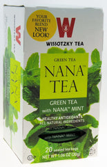 Wissotzky - NANA TEA - Green Tea with Nana Nint, Box Of 20 Bags - MakoletOnline