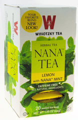 Wissotzky - NANA TEA - Lemon  with Nana Mint / Box of 20 bags - MakoletOnline