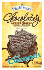 Yehuda Chocolatey Coated Matzos with Coconut - MakoletOnline