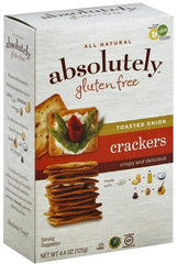 Absolutely - Gluten free Crackers, Toasted Onion, 4.4 Ounces. - MakoletOnline