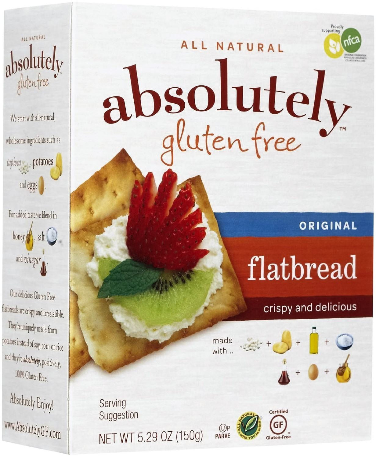 All Natural Absolutely Gluten Free Flatbread