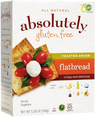 Absolutely - Gluten free Flatbread, Toasted Onion, 5.29 Ounces. - MakoletOnline