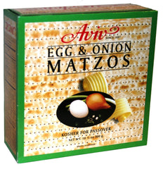Aviv, Egg & Onion Matzos (Kosher for Passover) 10.5 Ounces. - MakoletOnline