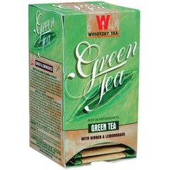 Wissotzky - Green Tea w/ Ginger & Lemongrass, Box of 20 Bags