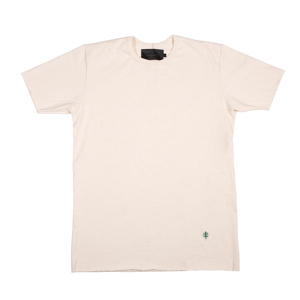 Cream / Green Benchmark Tee