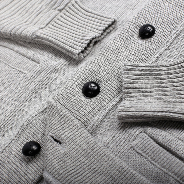 GREY MIX COTTON CARDIGAN