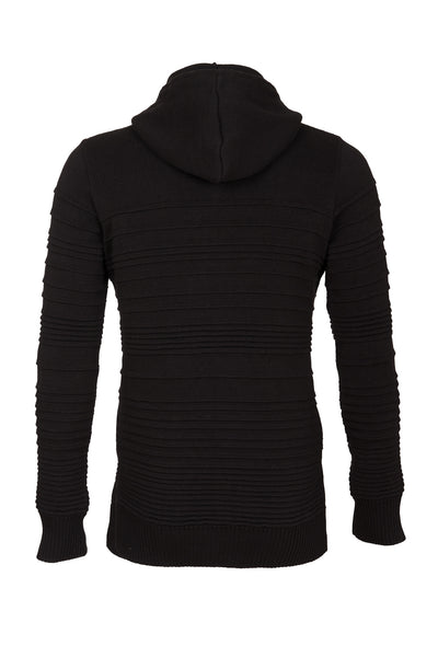 IRREGULAR STRIPE COTTON HOODIE