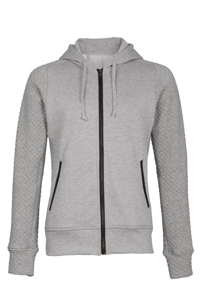HOODIE WITH QUILTED SLEEVES