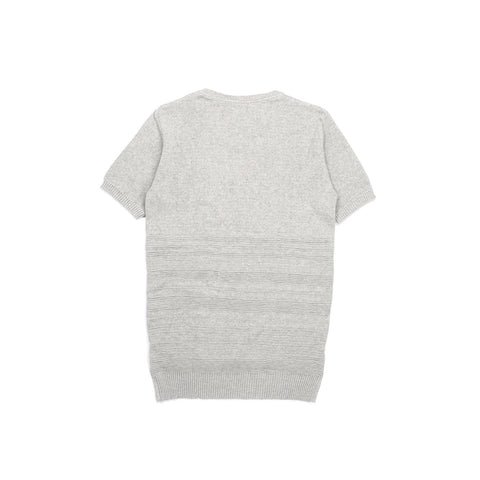 GREY MIX COTTON PIQUE T-SHIRT KNITTED