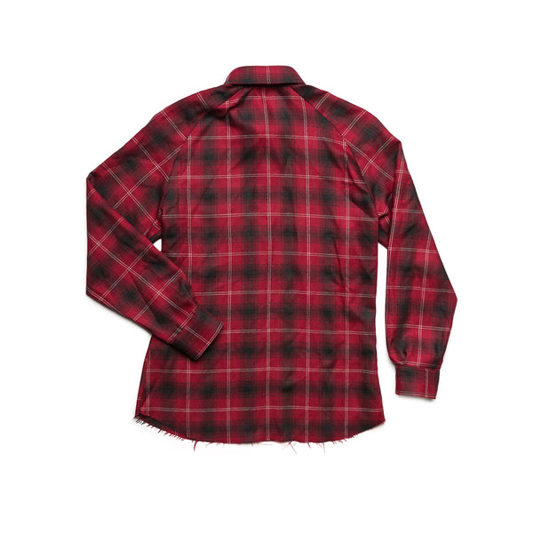 Raw Flannel Button Up