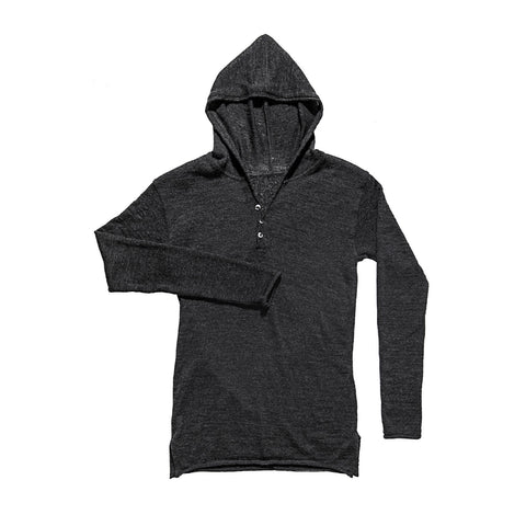 MERINO FEATHERWEIGHT HOODED CHARCOAL