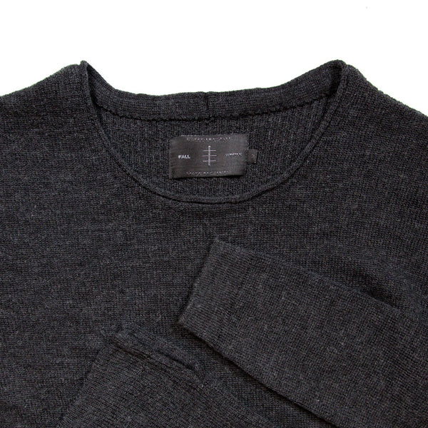 MERINO HEAVYWEIGHT CREWNECK CHARCOAL