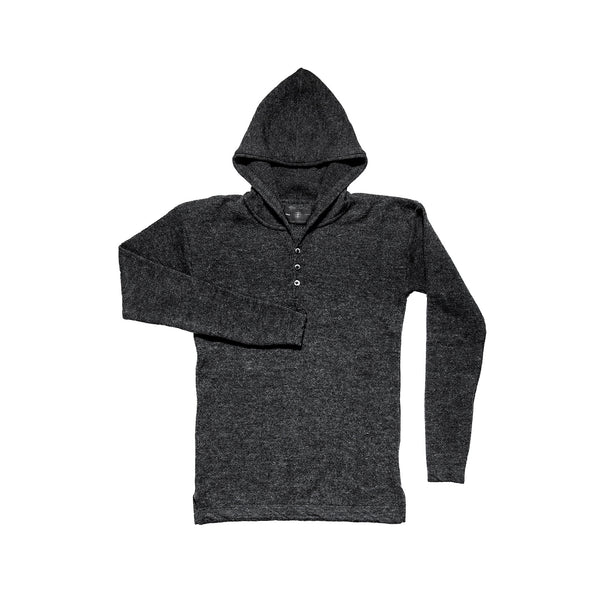 MERINO HEAVYWEIGHT HOODED CHARCOAL