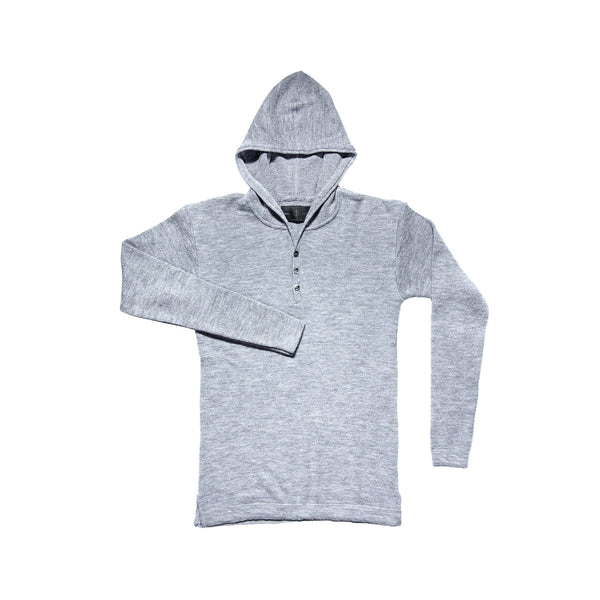 MERINO HEAVYWEIGHT HOODED GREY