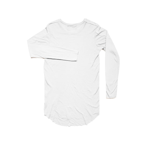 WHITE 2 TEXTURE LONG SLEEVE