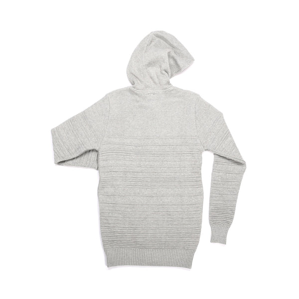 GREY MIX COTTON DOUBLE ZIP HOODIE