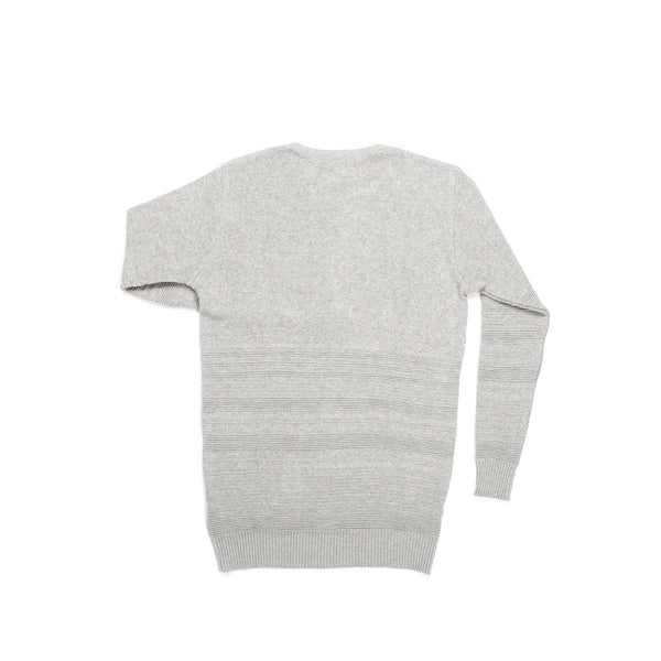 GREY MIX COTTON PIQUE HENLEY KNITTED