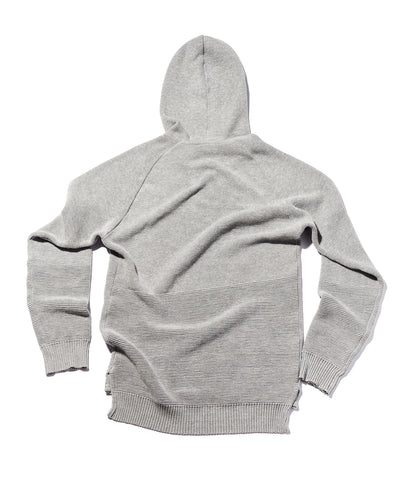 GREY MIX PIQUE COTTON PULLOVER