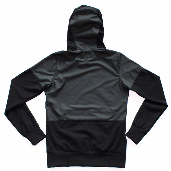 RAIN HOODIE TEFLON WASHED POLYESTER KNIT