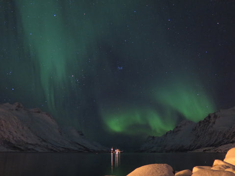 The Northern Lights near Tromsø, Norway