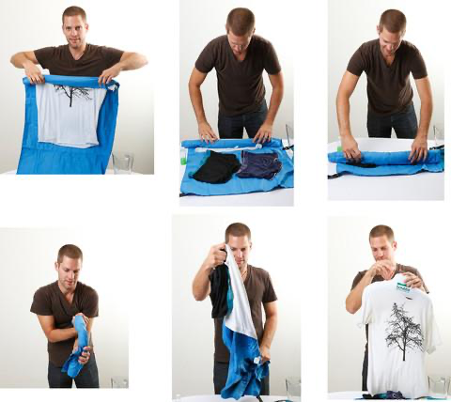 How to dry clothes after washing clothes with a Scrubba wash bag