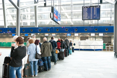 Queuing at airport check-in