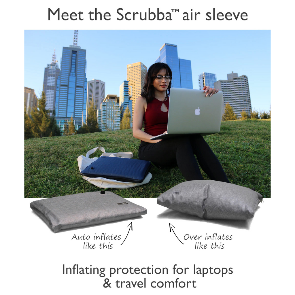 US only: Scrubba Air Sleeve Grey for tablets