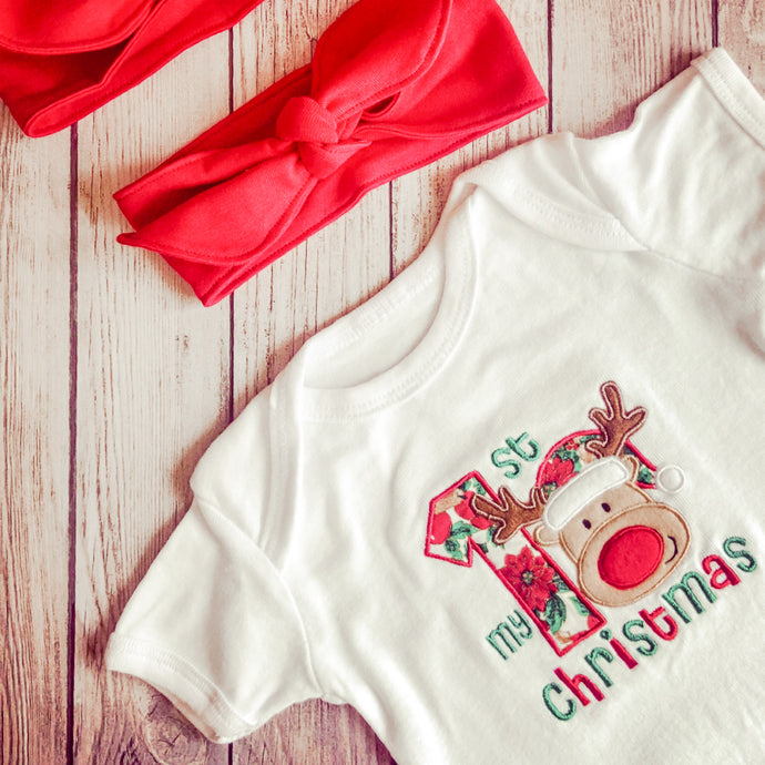 My First Reindeer Vest | Christmas
