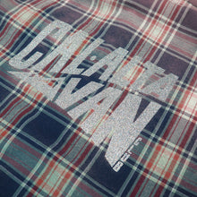 Load image into Gallery viewer, CAL-ALTA Van Club Vintage Flannel Shirt - Acid Dust Dark Blue, Red, Mint