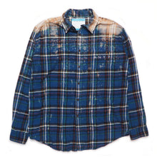 Load image into Gallery viewer, CAL-ALTA Van Club Vintage Flannel Shirt - Acid Drip Blue, Yellow, Black, Green, Red, White