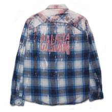 Load image into Gallery viewer, CAL-ALTA Van Club Vintage Flannel Shirt - Acid Drip Blue, Dark Blue, White