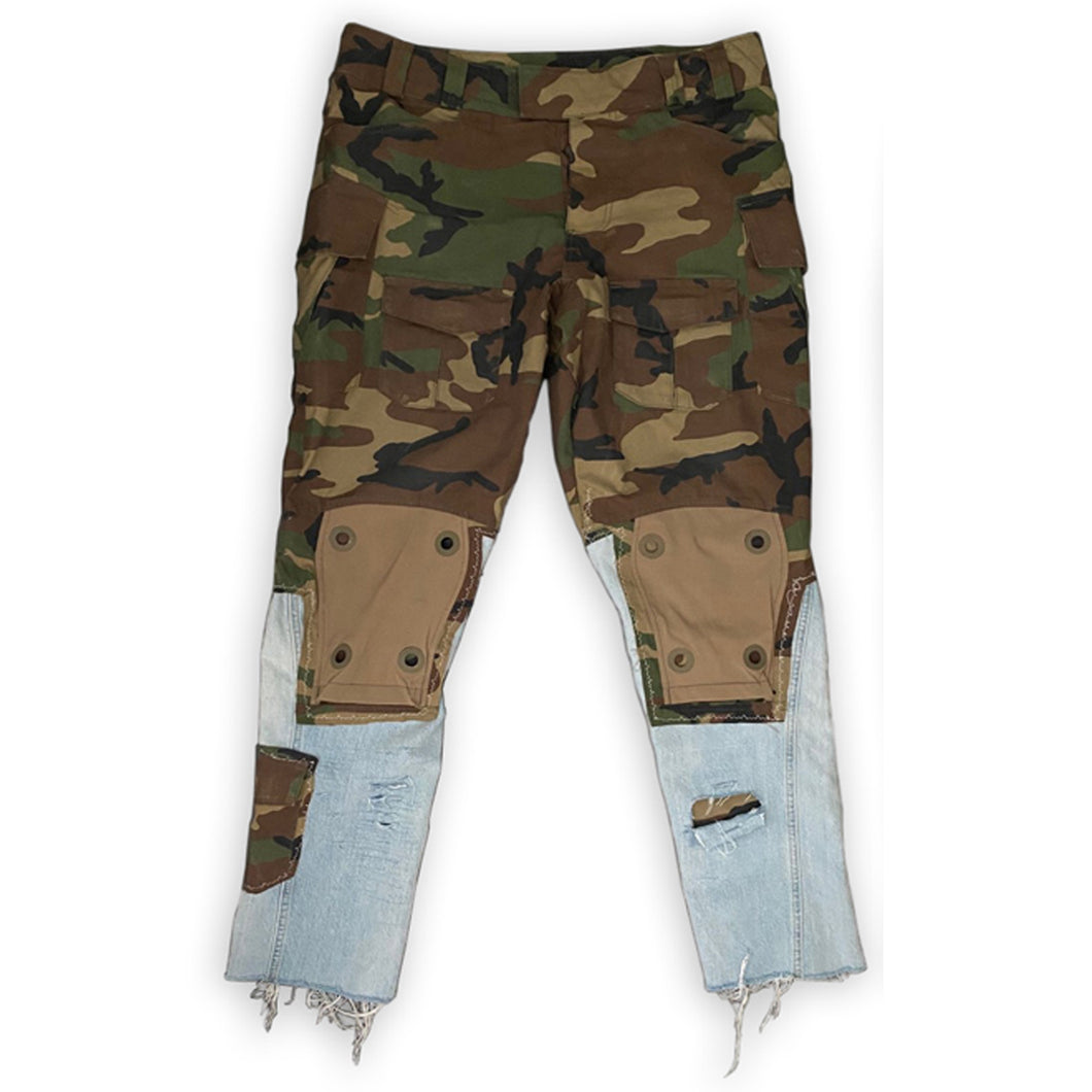 Patched Utility Camo Jeans