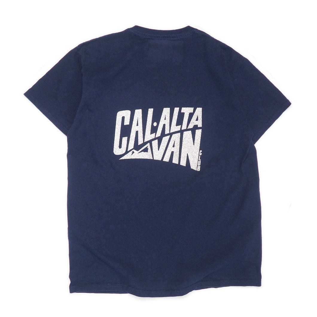 CAL-ALTA Van Club Signature Dyed T-Shirt - Grunge Navy / Silver Crystal