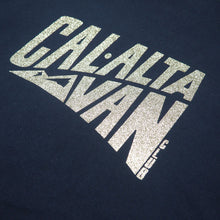 Load image into Gallery viewer, CAL-ALTA Van Club Signature Dyed T-Shirt - Grunge Navy / Silver Crystal