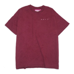 CAL-ALTA Van Club Signature Dyed T-Shirt - Burgundy / Rose Crystal