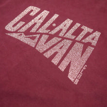Load image into Gallery viewer, CAL-ALTA Van Club Signature Dyed T-Shirt - Burgundy / Rose Crystal