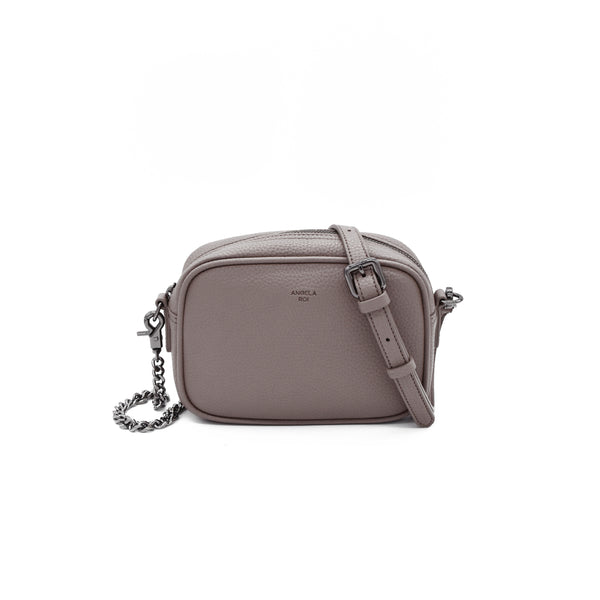 Grace Micro Crossbody [Signet] - Light Mud Gray