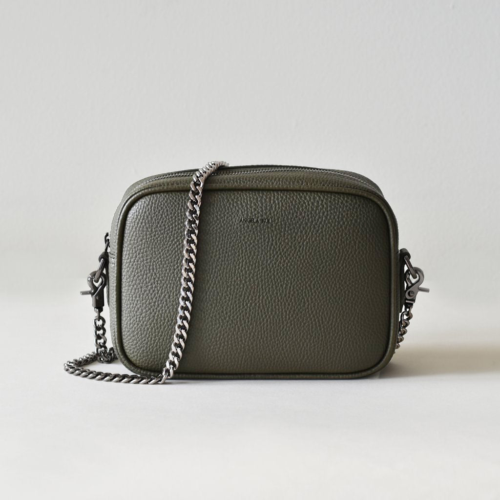 Grace Mini Cross-body - Deep Olive [Sample Sale]