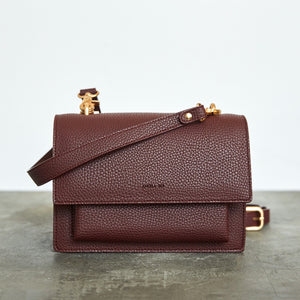 Eloise Satchel - Bordeaux [Sample Sale]