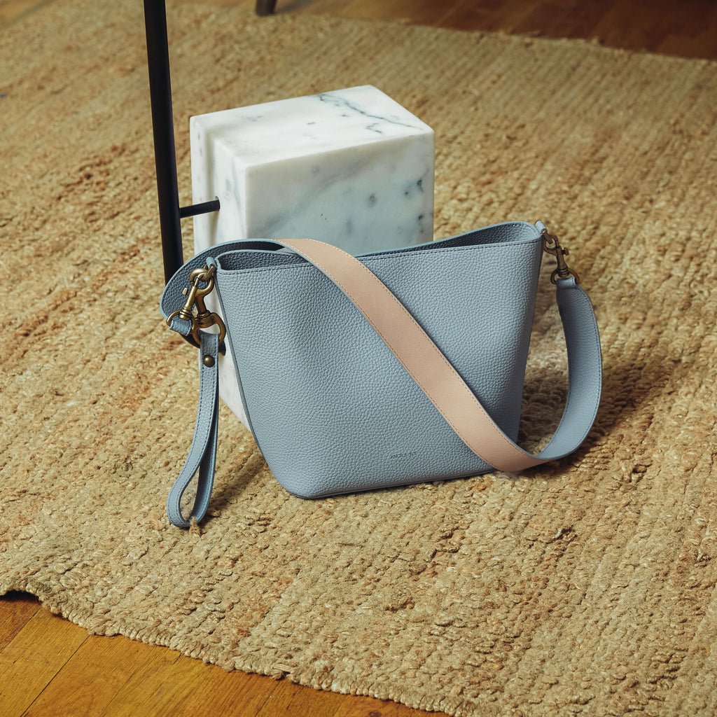 Angelou Mini Bucket - Light Nude Blue [Sample Sale]