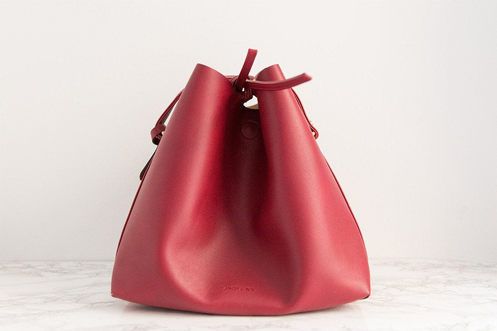 Jules Bucket Bag - Wine (Sample Sale)