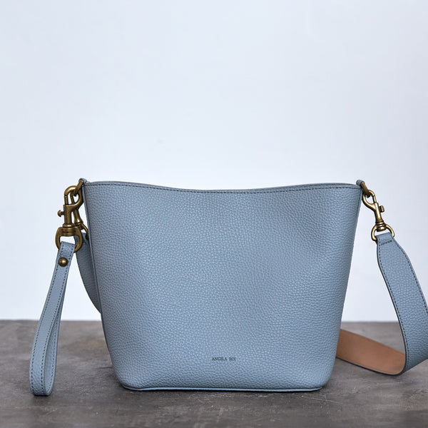 Angelou Mini Bucket - Light Nude Blue