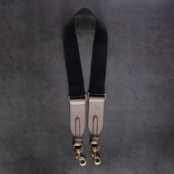 Webbing Strap - Black / Light Mud Gray