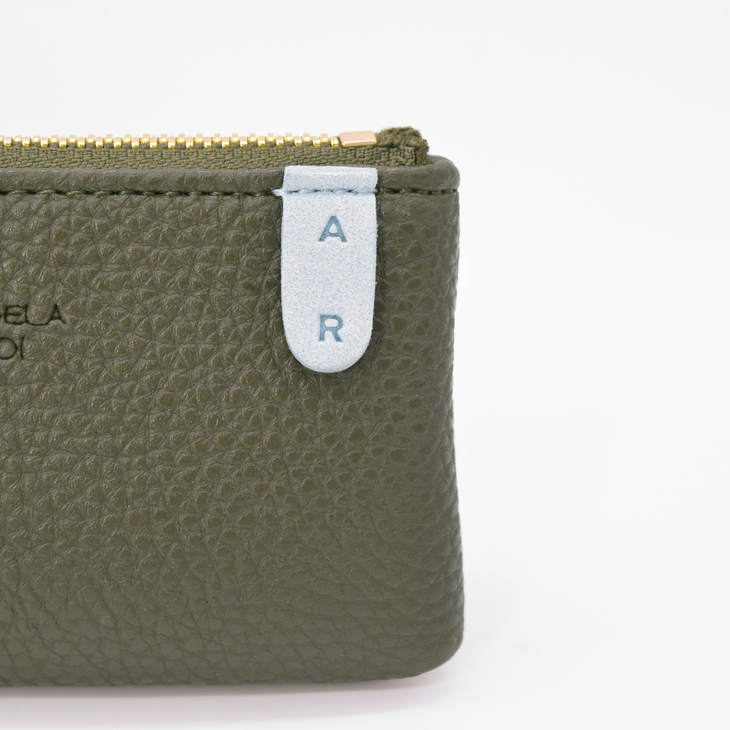 Zuri Card Pouch [Signet] - Deep Olive / Light Blue