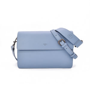 Hamilton Shoulder Bag [Signet] - Light Nude Blue