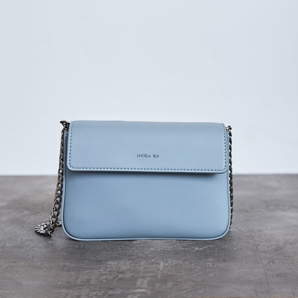 Hamilton Mini Chain Cross-body - Light Nude Blue [Sample Sale]