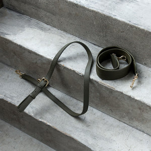 Grace Cross-body - Deep Olive [No AR Logo] [Sample Sale]