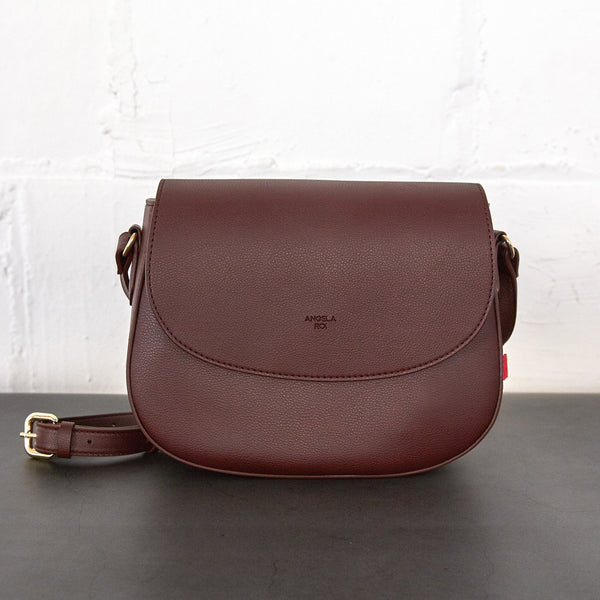 Florence Saddle Crossbody [Signet] - Bordeaux